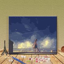 可订制尺寸54x50cm布喷绘油画梳理01靳尚谊
