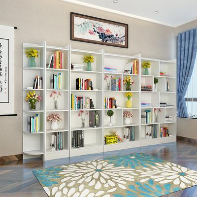 简约现代书柜简易实木质书橱自由组合儿童创意书架储物柜带门特价新款推荐