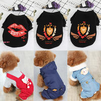 2 pieces 10 fold net red puppy dog ​​clothes winter clothes small dog Teddy female cat autumn and winter pets four feet autumn dress than bear