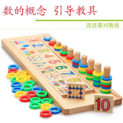 蒙特兒童益智數學啟蒙玩具數字配對早教幼兒園蒙臺梭利教具1-3歲