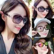 墨镜女潮明星款太阳镜女优雅新款防紫外线原宿风圆脸个性2018眼镜