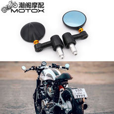 Retro motorcycle modified rearview mirror Speedco SOCO Cubs CNC aluminum alloy handle reverse mirror