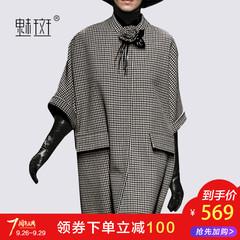呢子七分袖大衣