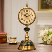 European clocks clock ornaments living room pendulum clock desktop luxury retro clock creative table clock American desktop clock