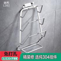 架子厨房壁挂式沥水盖子收纳墙上家用多功能置物菜板v锅盖励架