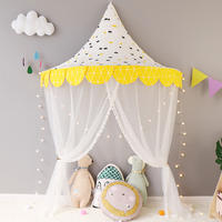 Children's bed tent reading reading corner layout princess room girl indoor boy baby half moon game cabin