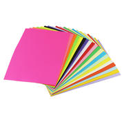 Yuan Hao color paper a4 handmade origami children mixed color red and black color copy paper 80g fluorescent printing A4 paper 100 sheets