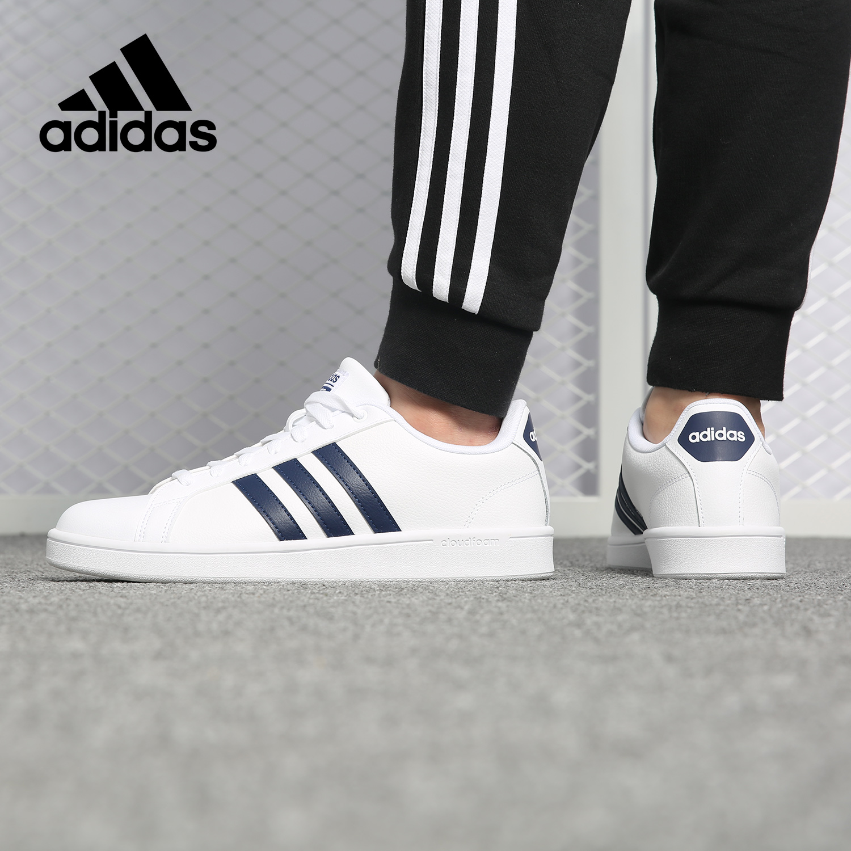 Adidas/阿迪达斯正品男女鞋NEO2019夏款运动休闲板鞋小白鞋B43648