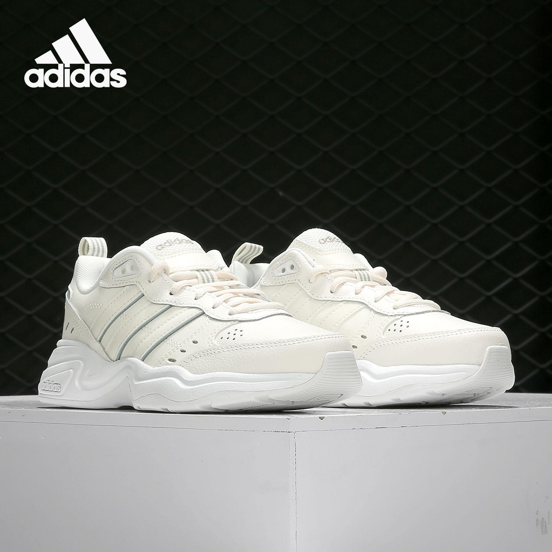 Adidas/阿迪达斯正品女鞋19秋季新款运动缓震小白鞋跑步鞋EG2692