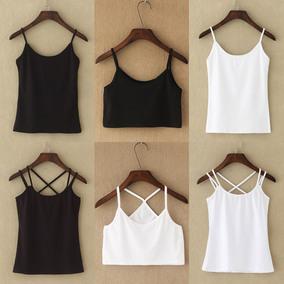 小吊带背心女夏性感短款打底外穿内搭显瘦百搭黑白色吊带衫bf潮