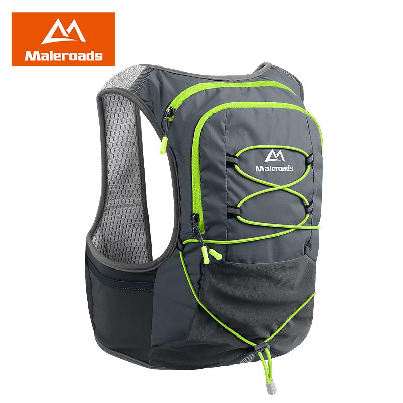 迈路士越野跑步双肩背包男透气户外徒步运动水袋包女防水骑行包8L