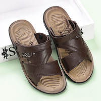 2 summer men's sandals dual-use casual shoes breathable beach shoes non-slip summer sandals and slippers