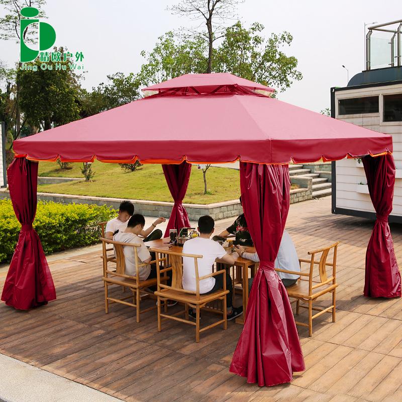 精欧户外庭院家用停车汽车遮阳棚婚庆广告帐篷伞摆摊雨棚篷房大伞