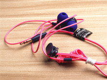 【值!】彩色可伸缩短线入耳式耳机 Mp3音乐运动耳机 无麦无线控