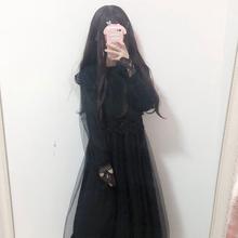 女2018新款 秋装 时尚 韩版 学生裙子萌甜美蕾丝花边打底网纱连衣裙潮