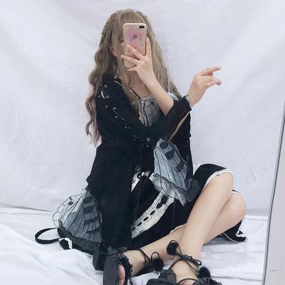 2019春装女装韩版雪纺衫防晒衣长袖外套小清新中长款早春打底超仙