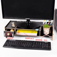 Desktop computer monitor screen heightening shelf High base bracket bracket Office desk storage rack