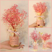 Dried flower bouquet home furnishings small fresh starry net red ins eternal vase cotton decorative ornaments real flowers