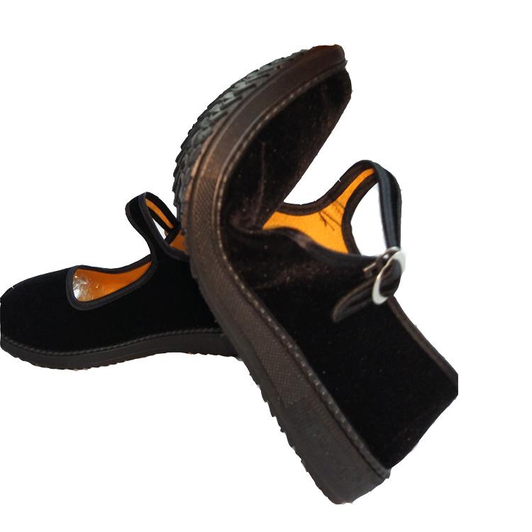 老北京布鞋女单鞋平底鞋闲鞋黑平底演出舞蹈酒店工作鞋布鞋礼仪鞋