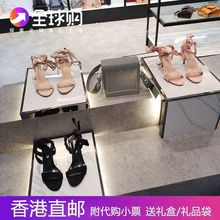 Small CK Shoes High-heel Bandage with Suede Butterfly Knot 2019 New Baitao Fine-heeled Sandals Delivered in Hong Kong