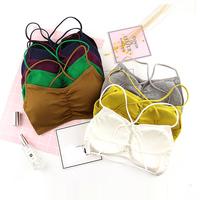 3件装 抹胸裹胸发育期文胸防走光小吊带背心运动内衣高中学生少女