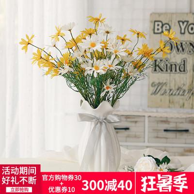 欧式马蹄口创意陶瓷花瓶透明彩色 客厅百合插花瓶装饰工艺品摆件