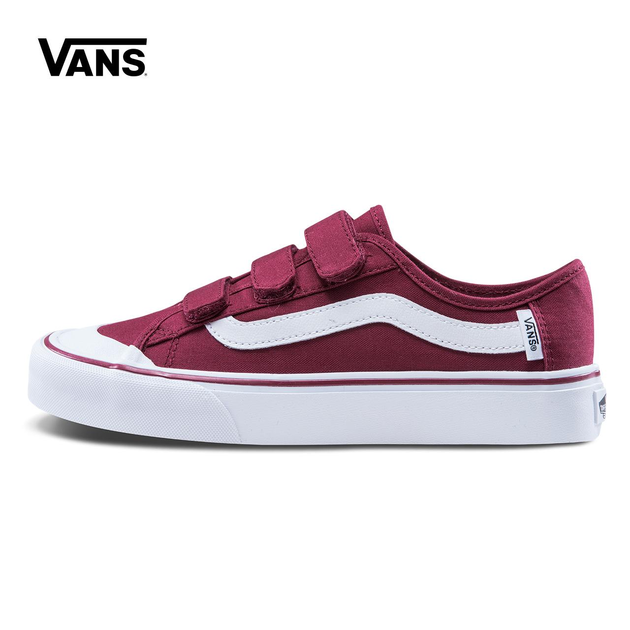 Vans范斯 运动休闲系列 帆布鞋 低帮男女红色官方正品