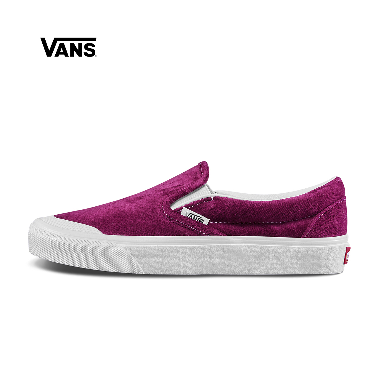 Vans范斯 经典系列 Slip-On帆布鞋 低帮女子丝绒新款官方正品