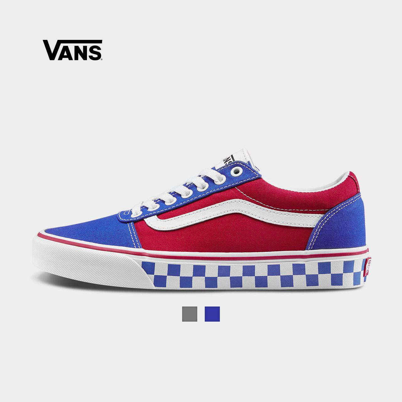 Vans范斯 运动休闲系列 帆布鞋 低帮男子新款侧边条纹官方正品