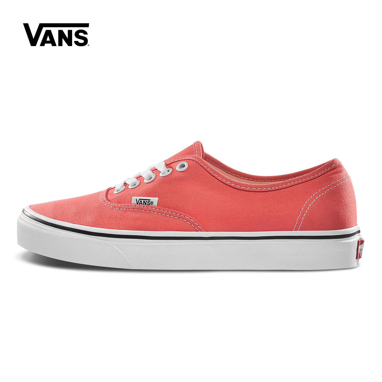 Vans范斯 经典系列 Authentic帆布鞋 低帮男女橘色官方正品