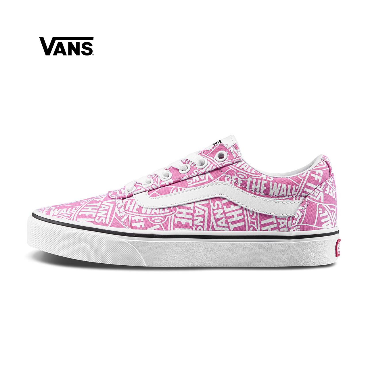 Vans范斯 运动休闲系列 帆布鞋 低帮女子新款侧边条纹官方正品
