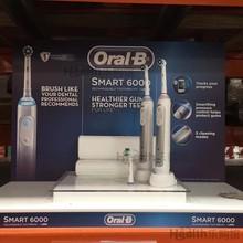 美国直邮  ORAL B 欧乐B smart 6000 电动牙刷  2支套裝