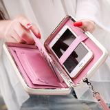 普瑞蒂饭盒女士钱包2018新款日韩版学生可爱长款小清新钱夹手机包