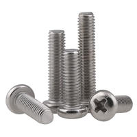 M2 stainless steel 304 screw round head cross bolt semicircular head cross head tooth screw 2*3-60