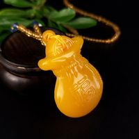 Opening Huanglong jade lucky Nafu blessing blessing bag jade money bag pendant peace blessing bag amulet pendant pendant