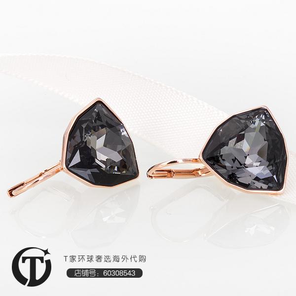现货施华洛世奇黑色水晶耳环专柜联保5098376