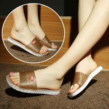 新款浴室拖鞋水晶洗澡鞋家居家女室内一字拖塑料防滑凉拖鞋包邮