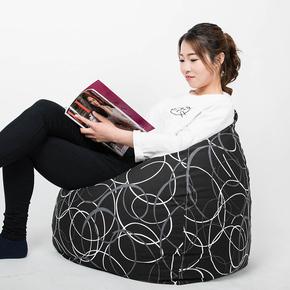 新品整装田园时尚帆布可拆洗单人亲子榻榻米经典豆袋懒人创意沙发