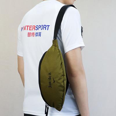 Nike耐克胸包男包2018新款多功能腰包跑步运动包休闲斜挎包手机包