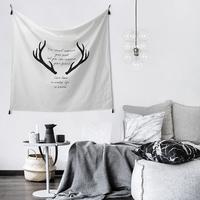简约现代北欧布艺装饰家居ins装饰挂布挂布背景墙布水洗棉全棉