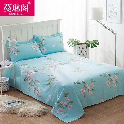 蔓琳阁老粗布床单单件纯棉加厚双人粗布被单单人1.5m1.8m2.0m床