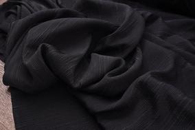 胡胡布店重磅真丝冠乐绉面料黑色提花竖纹面料1.25米宽特价重磅