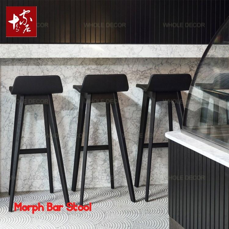 美式实木吧台椅现代简约高脚凳吧台凳子家用靠背吧凳欧式酒吧椅子