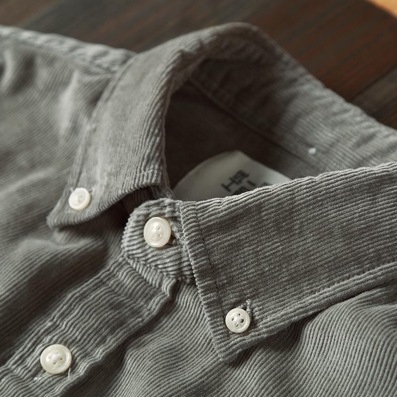 男士条绒衬衫