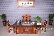 老船木茶桌椅组合实木中式茶几仿古家具沉船木茶台简约功夫泡茶桌