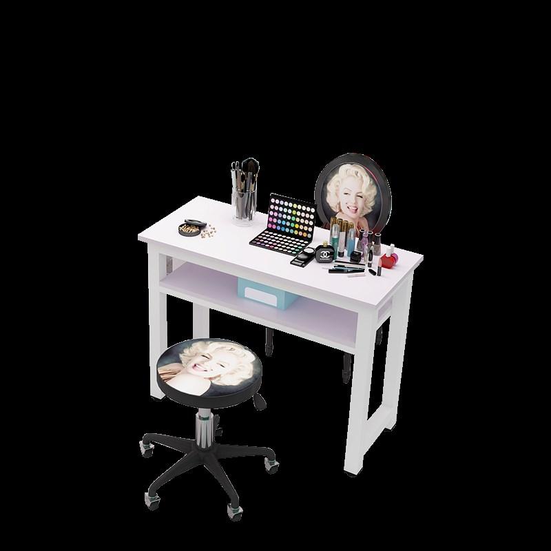 2018新款简约双层美甲桌单人双人美甲桌椅美甲台化妆桌工作台