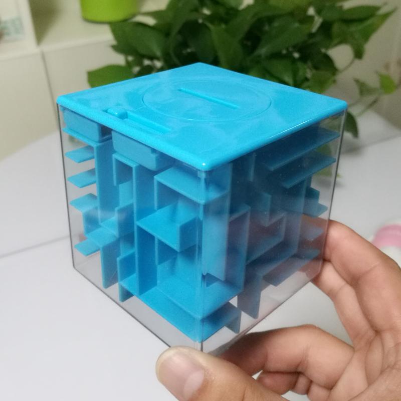创意3d立体迷宫存钱罐大号儿童智力走珠玩具小学生益智魔方储蓄罐