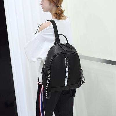 双肩包女韩版2018新款潮女包包时尚百搭软皮个性学生书包背包