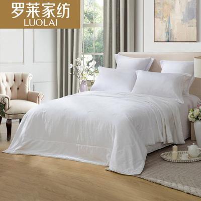 罗莱家纺夏季双人床上100%桑蚕丝被芯夏凉被子夏被空调被 新品