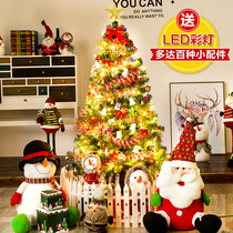 Lang Sen New Year Spring Festival shopping mall shop decoration Christmas tree Package 1 5 M 1 8 M 2 1 M 3 m 60cm encryption